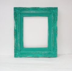 8x10 dark teal super ornate vintage frame by thepicturehook 4000