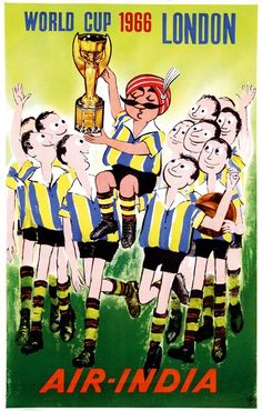 1966 / Poster by Anonymous - Air-India World Cup London