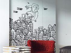 Carta da parati panoramica con paesaggi MY KING Collezione Inkiostro Bianco by Inkiostro Bianco design Ink Lab