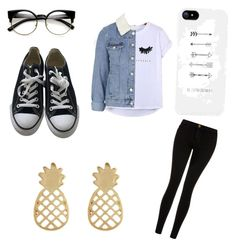 Untitled #8 by hannah-s-b on Polyvore featuring polyvore, fashion, style, Chicnova Fashion, Topshop, Current/Elliott, Converse, Accessorize and clothing