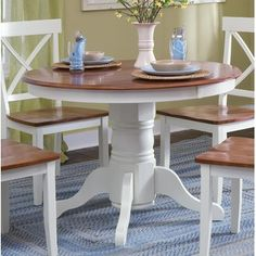 white and oak dining table and chairs