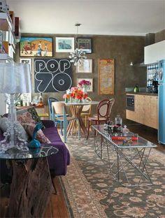 Apartamento 45 m² na Vila Madalena do arquiteto Rodrigo Angulo #vintage