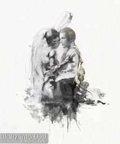 FFXII - Fran & Balthier Embrace - Final Fantasy 12 Zodiac Age Final Fantasy Xii, Fantasy Series, Watercolor Print, Watercolor Paper, Watercolor Fashion, 12 Zodiac, Insta Art, Finals, Drawings