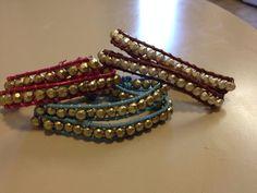 Double Wrap Beaded Leather Bracelet by originalsbyem on Etsy My Etsy Shop, Bracelets, Leather, Jewelry, Jewlery, Bijoux, Jewerly, Bracelet, Bangles