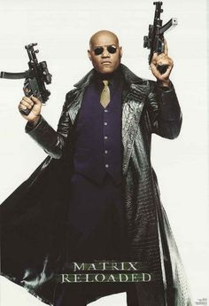 An awesome portrait poster of Morpheus (Laurence Fishburne) from The Matrix Reloaded! An original published in 2003. Fully licensed. Ships fast. 22x34 inches. Go down the rabbit hole and check out the
