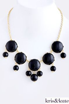 Holiday Bubbles in Black! $18  http://www.krisandkate.com/index.php/holiday-gift-guide.html