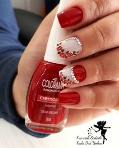 42 modelos de unhas decoradas com esmalte vermelho. Healthy Food Delivery, Manicure, Nails, Dog Snacks, Healthy Living Tips, Cookies Et Biscuits, Kids Nutrition, Just In Case, Jelsa
