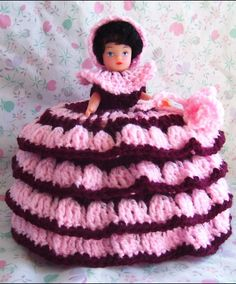 ☆ Burgundy and Pink Toilet Roll Doll :¦: By Maureen's Photos ☆