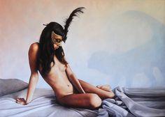 """Andrea Esposito, """"Amami"""", olio su tela, 70x100,cm, 2015"""