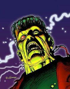 Frankenstein's Monster by Kerry Gammill Horror Icons, Horror Comics, Horror Art, Creature Movie, Mike Bell, The Modern Prometheus, Frankenstein's Monster, Monster Musume, Famous Monsters