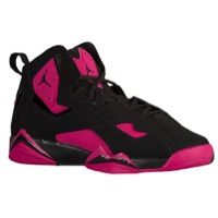 6eeb83b97d0097 Jordan True Flight - Girls Grade School - Black Black Sport Fuchsia from  Eastbay - The Jordan True Flight is a lightweight and responsive game shoe