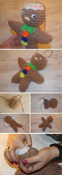 Crochet Gingerbread Man Tutorial