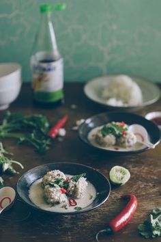Thai Chicken Meatball Soup | Souvlaki For The Soul - need to crisp up the meatballs b4 adding to the soup