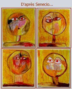 Chrys's Journal: My FEELING project in kindergarten - Vilhelmina Pycock Paul Klee, Kindergarten Art Lessons, Art Lessons Elementary, Art History Major, Art In The Park, Summer Art Projects, School Portraits, Monster, Art Plastique