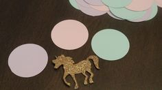 Unicorn Party Decorations. Ready to ship. Pastel Unicorn Confetti Mix. Pastel Party Decor. by PaperRabbit87 on Etsy