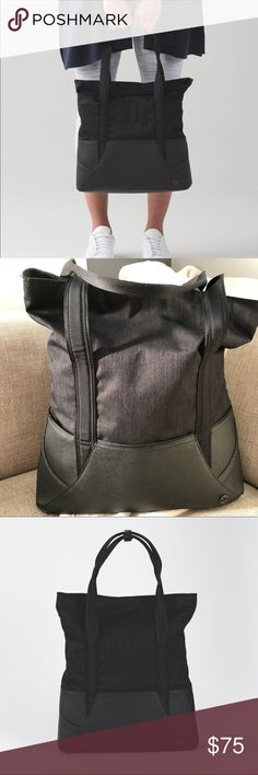 60970457217b Like new lululemon throw   go tote - Black This grab-and-go tote