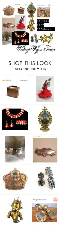 Holiday Gift Ideas...... by martinimermaid on Polyvore featuring GAS Jeans, vintage, doll, jewelry, bracelet and car