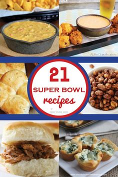 21 Scrumptious game day recipes and appetizers that are unbeatable! PLUS touchdown worthy DIY crafts & party decor...