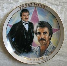 Danbury Mint HOLLYWOOD WALK OF FAME Plate TOM SELLECK | #130237624