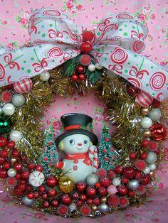 SUPER SALE....Xmas Wreath Adorable Vintage by KittyKatDance