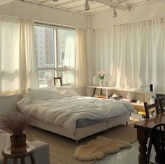Are you looking to brighten up a dull room and searching for interior design tips? One great way to help you liven up a room is by painting and giving it a whole new look. Dream Rooms, Dream Bedroom, Airy Bedroom, White Bedroom, Aesthetic Bedroom, Dream Apartment, Studio Apartment, Apartment Design, My New Room