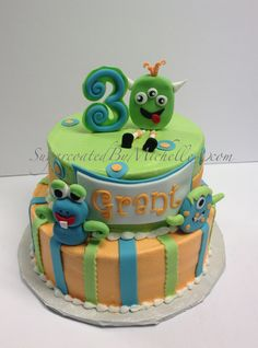 Friendly Monsters Cake