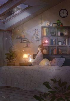 따뜻한 터틀넥 니트(Warm knit turtleneck sweater) by 애뽈 on Grafolio Japon Illustration, Cute Illustration, Anime Scenery Wallpaper, Cartoon Wallpaper, Aesthetic Art, Aesthetic Anime, Arte 8 Bits, Anime Art Girl, Cartoon Art