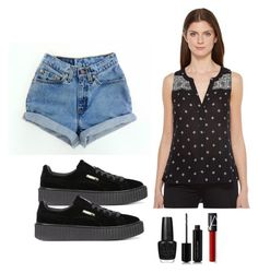 Outfit #1439 by ivanna1920 on Polyvore featuring polyvore fashion style Sanctuary Levi's Puma Marc Jacobs OPI clothing