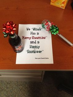 Cute idea for neighbor, teacher, Secret Santa gift (idea stolen from a friend ~ thanx) by brittney Funny Christmas Presents, Neighbor Christmas Gifts, Christmas Gifts For Friends, Neighbor Gifts, Christmas Humor, Christmas Fun, Christmas Pranks, Holiday Gifts, Funny Secret Santa Gifts