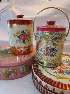 SALE  4 vintage #TINS  red and pink assortment by theartfloozy, $16.95