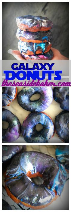 These delicious yeast galaxy donuts are out of this world! By Theseasidebaker.com