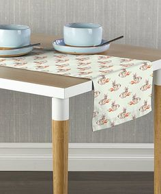 Fabric Textile Products Cotton Tail Table Runner | zulily