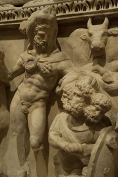 The 12 Labours of Hercules (Heracles) - detail, Roman relief (marble), 2nd century AD, (Antalya Müzesi, Antalya). [photo by Dick Osseman]