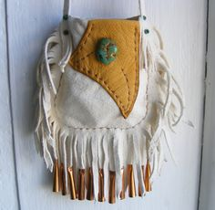 Your place to buy and sell all things handmade Leather Gifts, Leather Bags Handmade, Leather Pouch, Hippie Bags, Medicine Bag, Art Bag, Deer Skin, Beaded Bags, Beautiful Bags