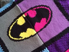 Batman crochet blanket #crochet