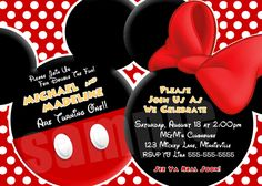 YOU CHOOSE Mickey Mouse Invitation For by ThePrintShoppeOnEtsy