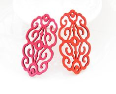 Dyeing Series  30x 60 mm Filigree Hot Pink / Red by halocolor