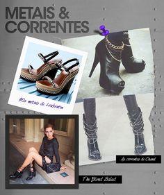 Os metais nos sapatos do inverno 2014!