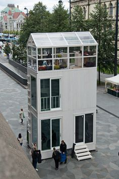head architect marco casagrande ofcasagrande laboratory has installed a micro-apartment building in a bustling helsinki square.