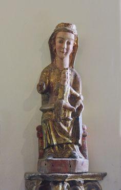 Virgen románica. Virgen con el Niño. Catedral de Astorga.