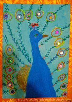 These grade 3 students had been studying India to tie in with the Commonwealth Games held recently in Dehli. The peacock is India's nati...