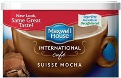 Maxwell House International Coffee Decaf Sugar Free Suisse Mocha Cafe Cans Pack of 3 *** Check out the image by visiting the link. (This is an affiliate link) Decaf Coffee, Espresso Coffee, Coffee Mugs, Kraft Recipes, Gourmet Recipes, Types Of Coffee Beans, Maxwell House Coffee, International Coffee, Ground Coffee Beans