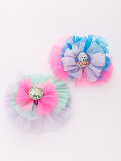 fafa Online Shop/商品詳細 ANICE|ヘアクリップ もっと見る Tulle Bows, Fabric Bows, Ribbon Bows, Fabric Flowers, Kawaii Accessories, Kids Hair Accessories, Textile Jewelry, Fabric Jewelry, Felt Crafts