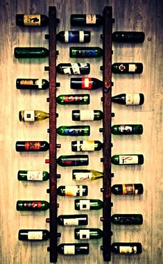 Wooden Wine Rack by Woodsshop on Etsy, would look awesome in room next to bar