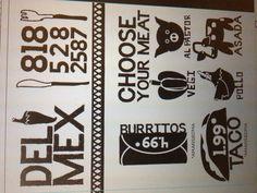 A menu I designed for a Mexican restaurant.