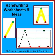 Free Handwriting Worksheets in a five step progression.