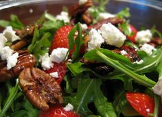 Strawberry Arugula Salad Primal Recipes, Clean Eating Recipes, Whole Food Recipes, Diet Recipes, Healthy Eating, Healthy Recipes, Healthy Foods, Clean Foods, Healthy Cooking