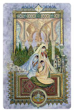 من اعملي الفنية الجديدة فن المنمنمات تسمى (نساء القصبة الجزائر )