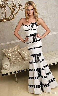 Black and white designer couture