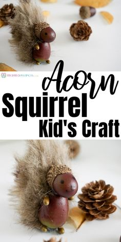Easy Adorable Squirrel Acorn Craft for Kids